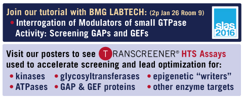 Read more about our activities at SLAS 2016