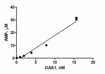 OAS1 Assay Enzyme Titration Converted Data