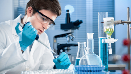 Scientist Working on CD38 Discovery